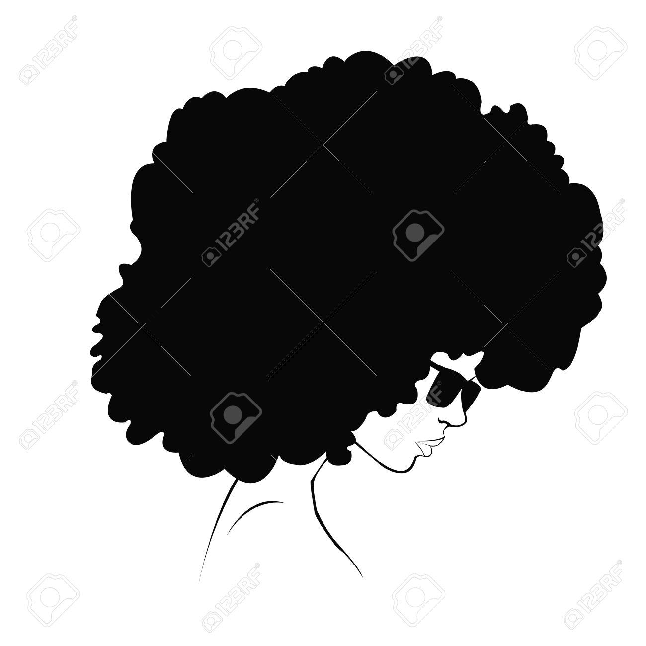 Afro Hair Clipart.