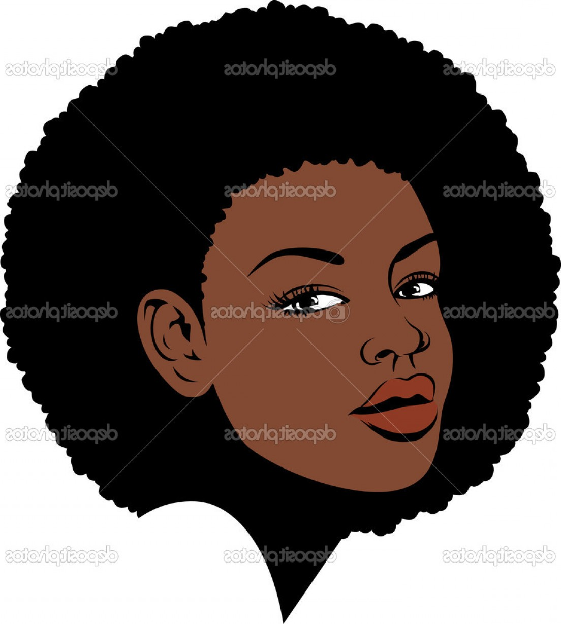 Top Afro Vector Face Design.