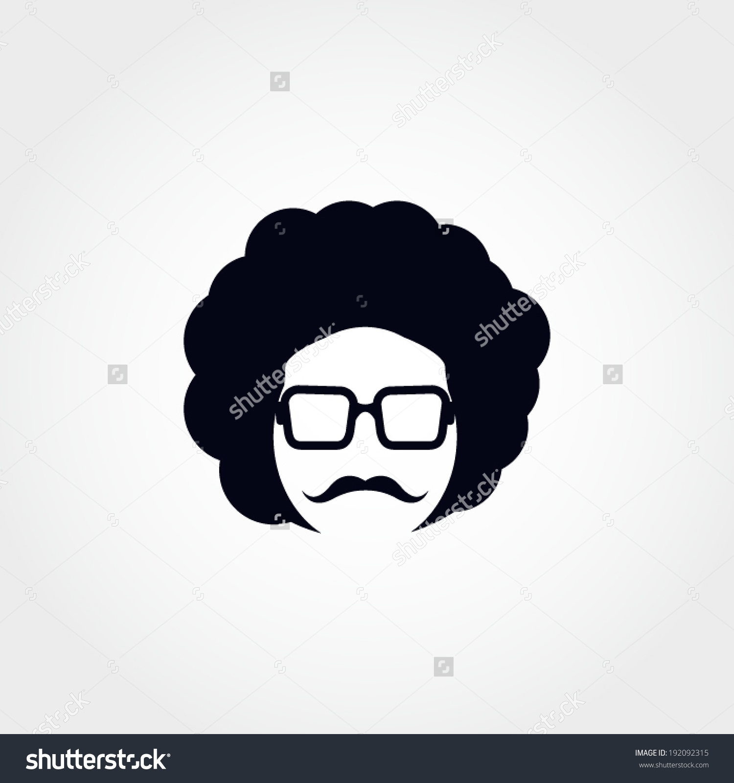 Afro Man Vector Illustration Stock Vector 192092315.