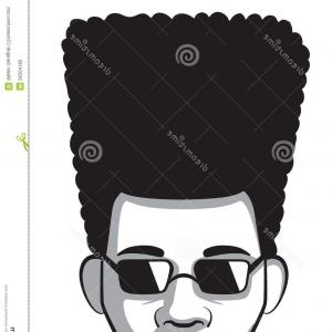 Excellent Photovector Illustration Of Different Curly Afro Men.