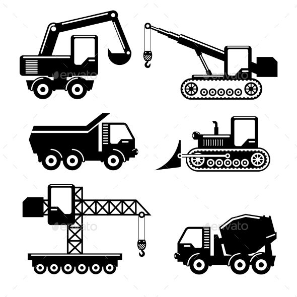218 best images about * Construction Vehicles, Tractor Silhouettes.