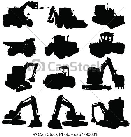 Clipart Black White House Construction Trade Silhoute.