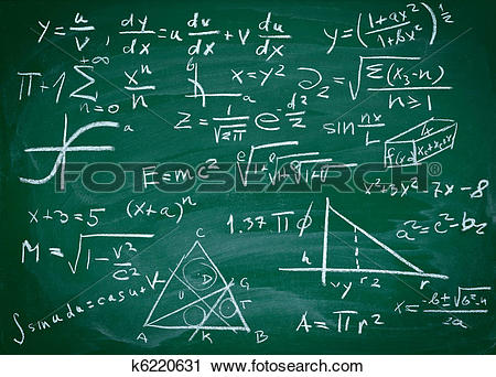Clipart of math formulas on school blackboard education k6220631.