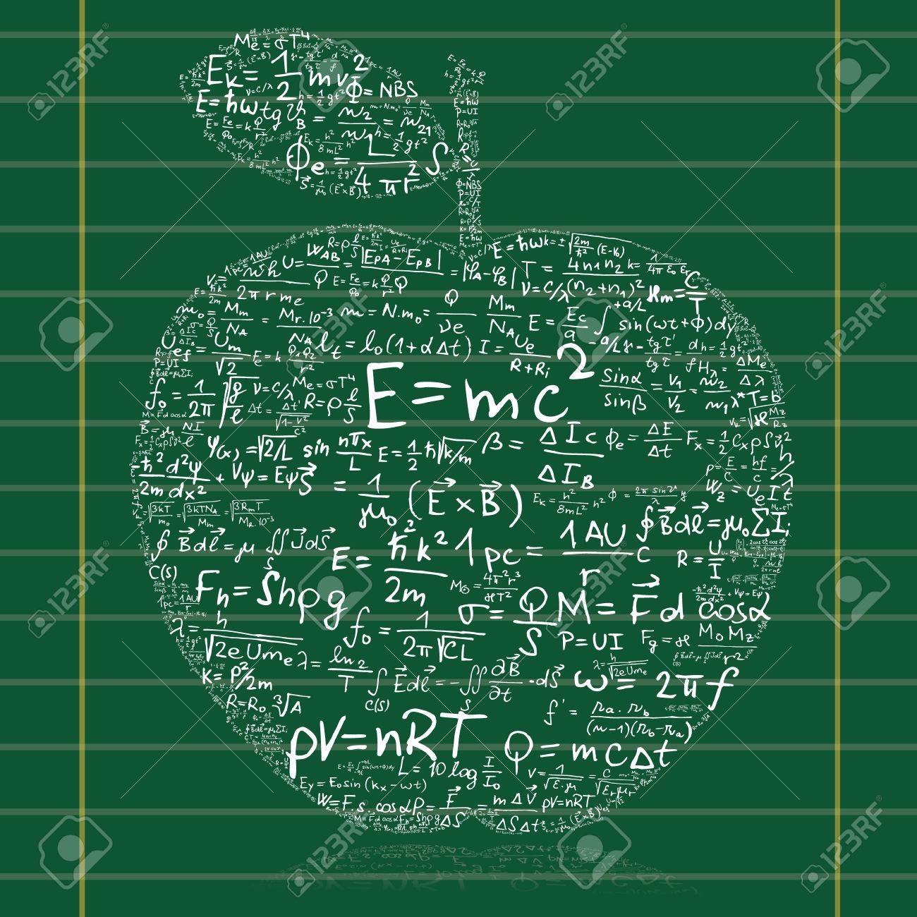 Clipart Blackboard Formulas.