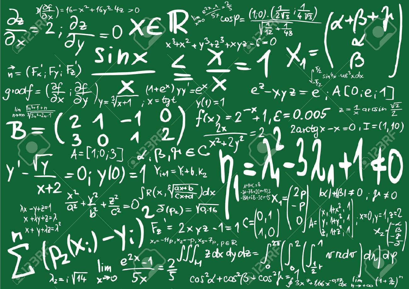 clipart blackboard formulas #4