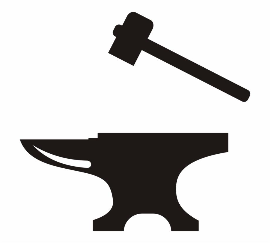 Anvil Hammer Blacksmith Forge Tool.