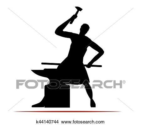Blacksmith Logo Design Clipart.