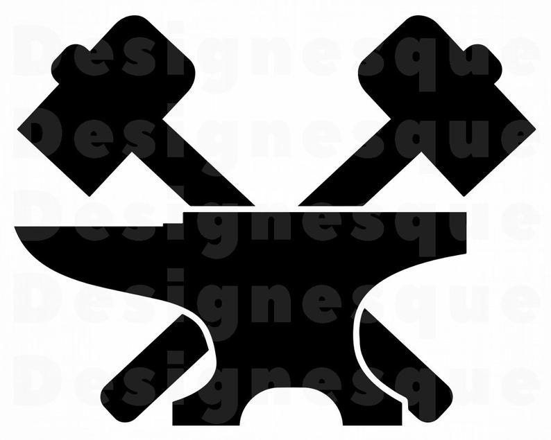 Blacksmith #3 SVG, Hammer Svg, Anvil Svg, Blacksmith Clipart, Blacksmith  Files for Cricut, Blacksmith Cut Files For Silhouette, Dxf, Png Eps.