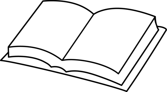Blank Book Coloring Page.