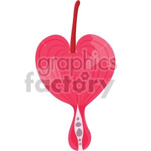 bleeding heart flower clipart. Royalty.