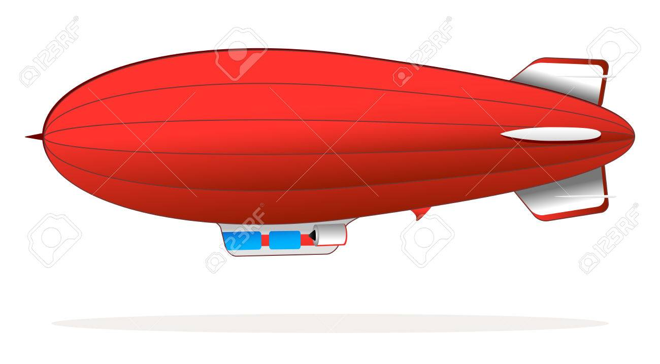 Red blimp » Clipart Station.