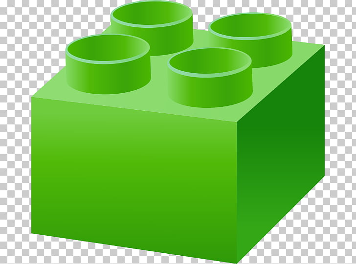 LEGO Toy block Green , Block PNG clipart.