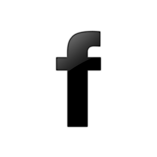 Black Facebook F Icon, PNG ClipArt Image.