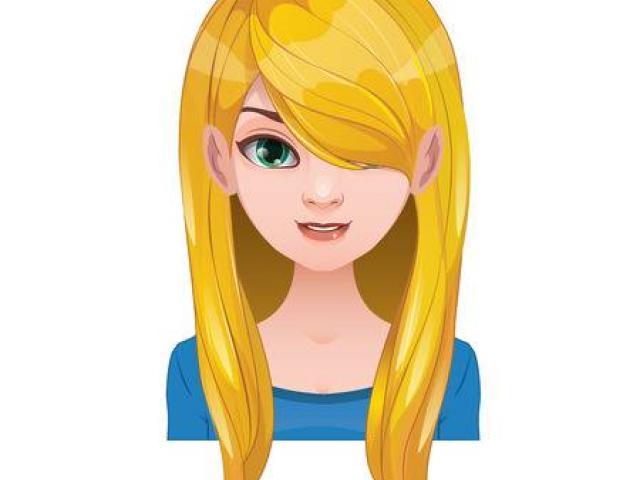 Blond Hair Cliparts 11.