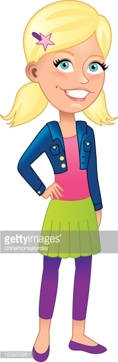 Smiling Young Blonde Girl premium clipart.