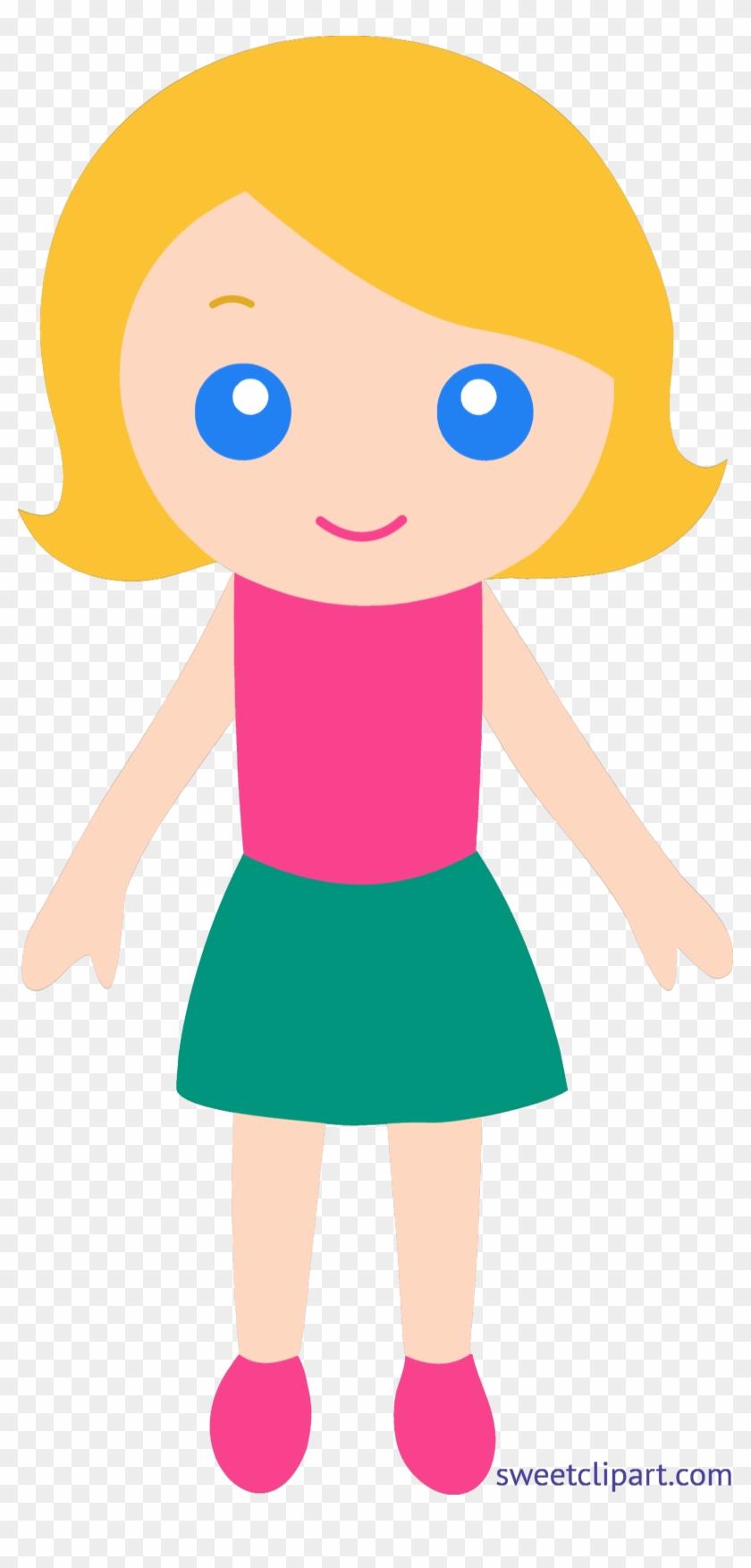 Little Girl 4 Blonde Clip Art.