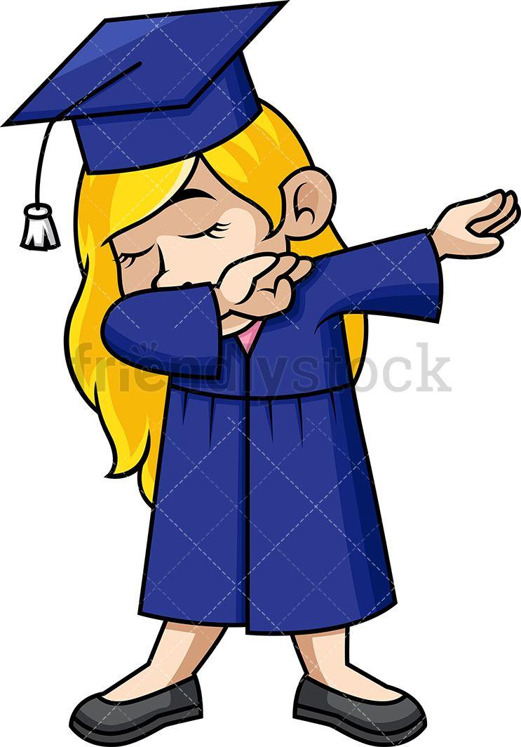 Dabbing Girl Graduate.