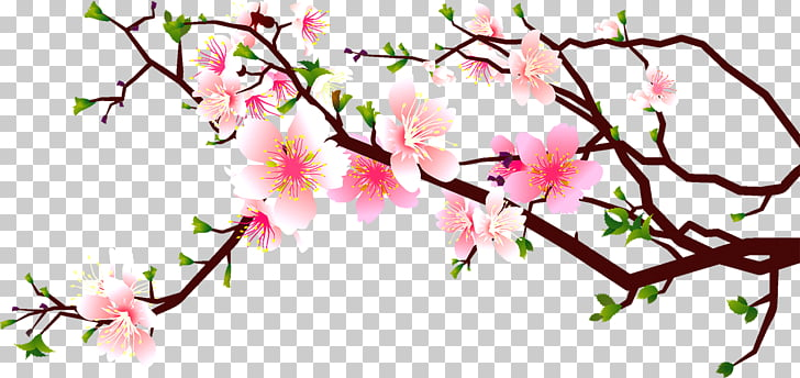 Cherry blossom Peach , Peach corner decoration, pink cherry.