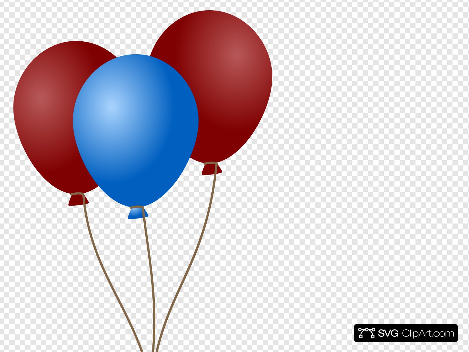 Emmas Blue Balloons Clip art, Icon and SVG.
