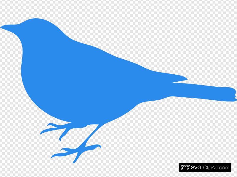 Blue Bird Clip art, Icon and SVG.
