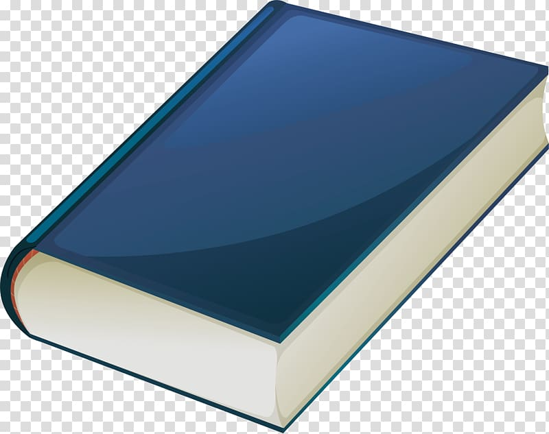 Book Cartoon, Blue Book transparent background PNG clipart.