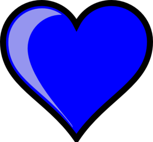 Blue Heart Clip Art at Clker.com.