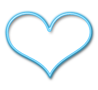 Light Blue Heart Clipart.