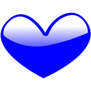 Cute hearts clipart blue.