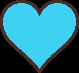 Blue Heart Clip Art.