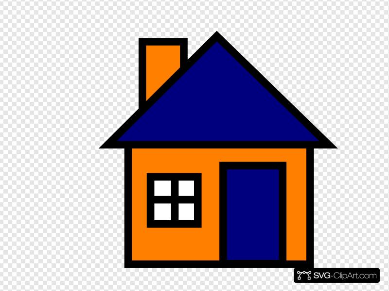 Orange And Blue House Clip art, Icon and SVG.