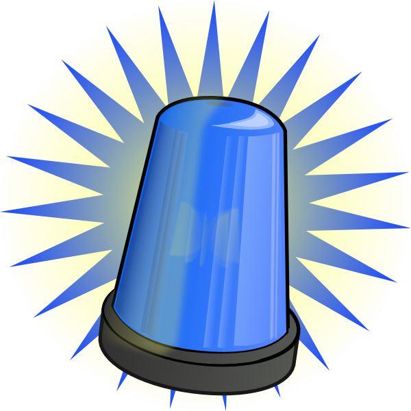 Blue Light Alarm Clip Art at Clker.com.