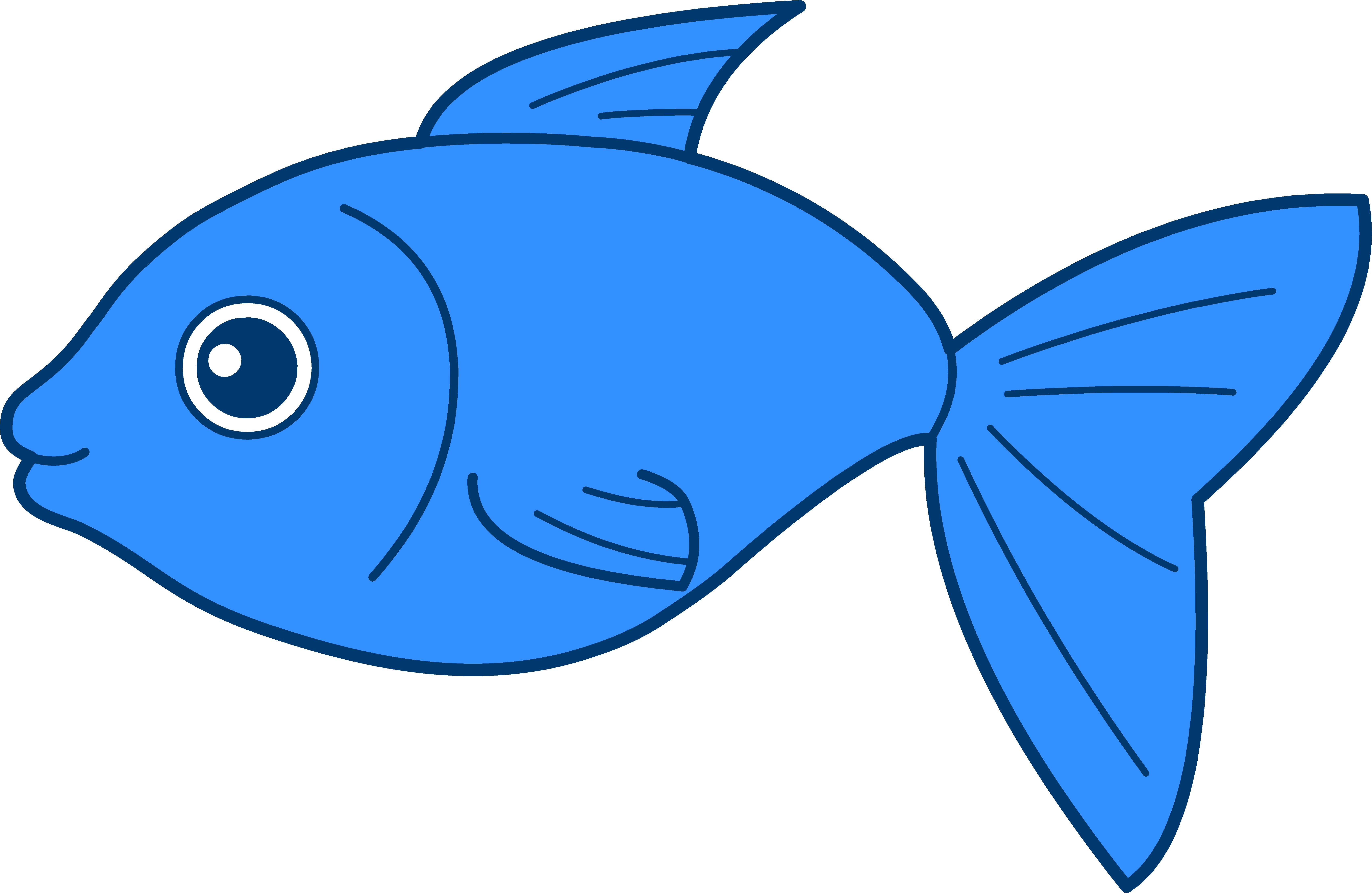Blue fish clip art free clipart images.