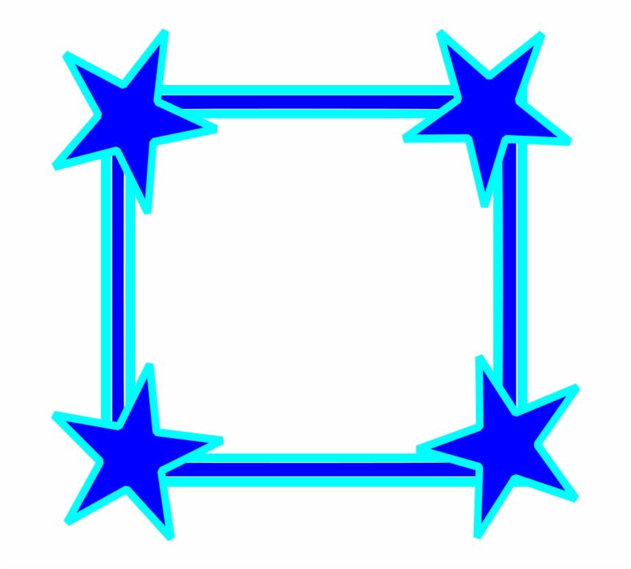 Blue Star Frame , Png Download.