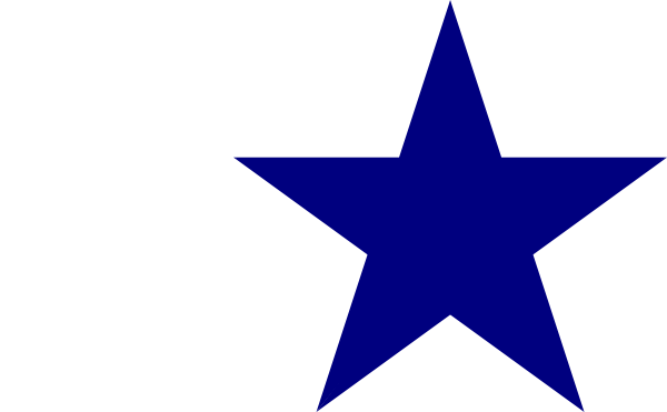 Solid Blue Star SVG Clip arts download.
