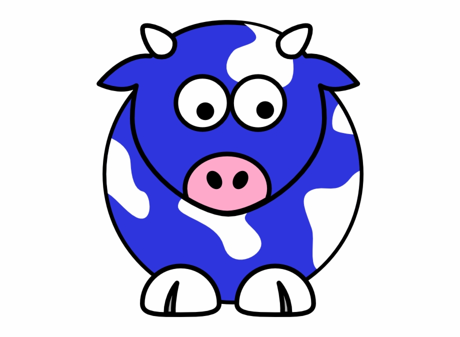 How To Set Use Blue Cow Svg Vector.