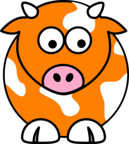 10092 Cow free clipart.