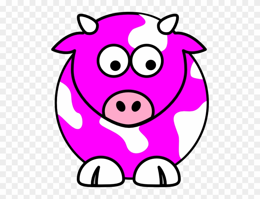 Pink And Blue Cow Clipart (#194600).