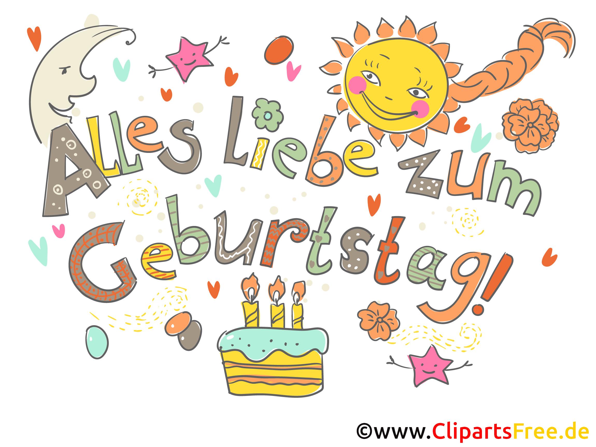 Geburtstag Cliparts kostenlos.