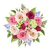 Kostenlose Clipart und Vektorgrafiken für Blumenstrauß.