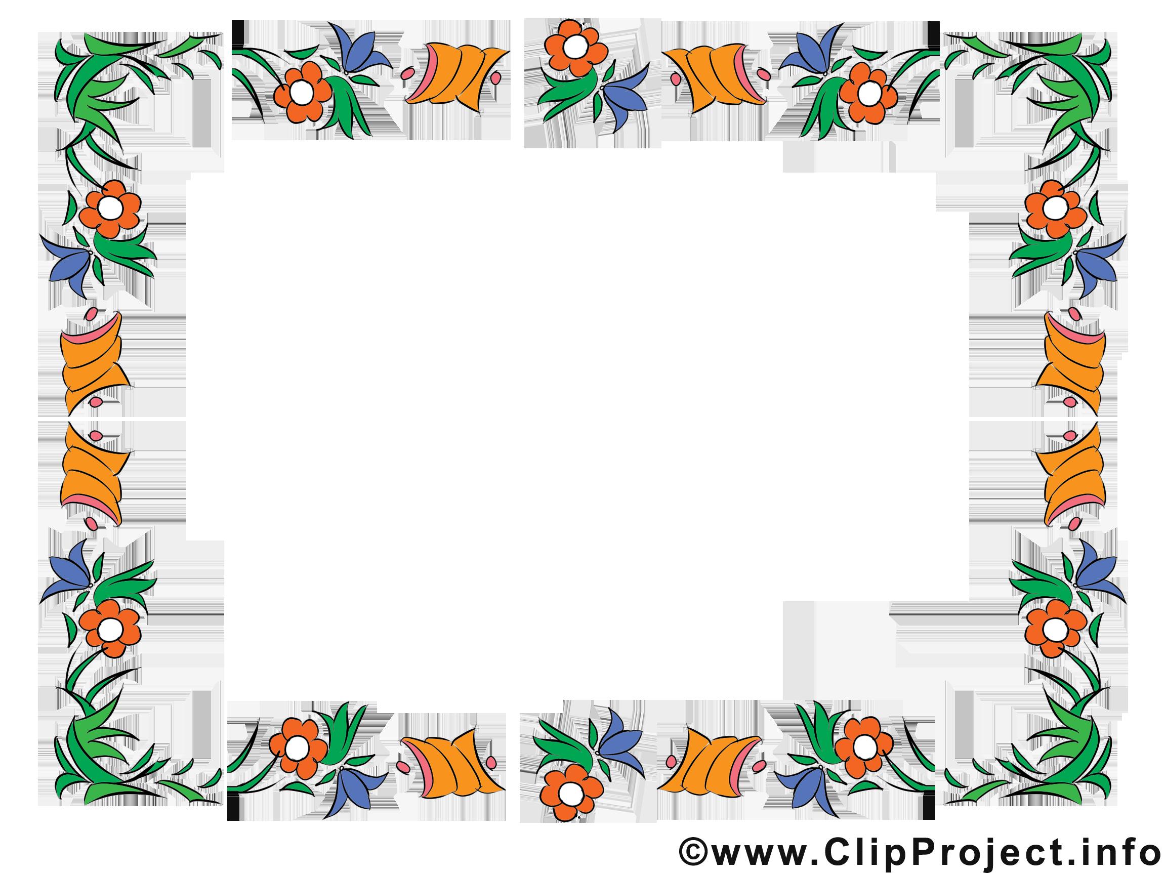 Blumen Rahmen Clipart kostenlos.