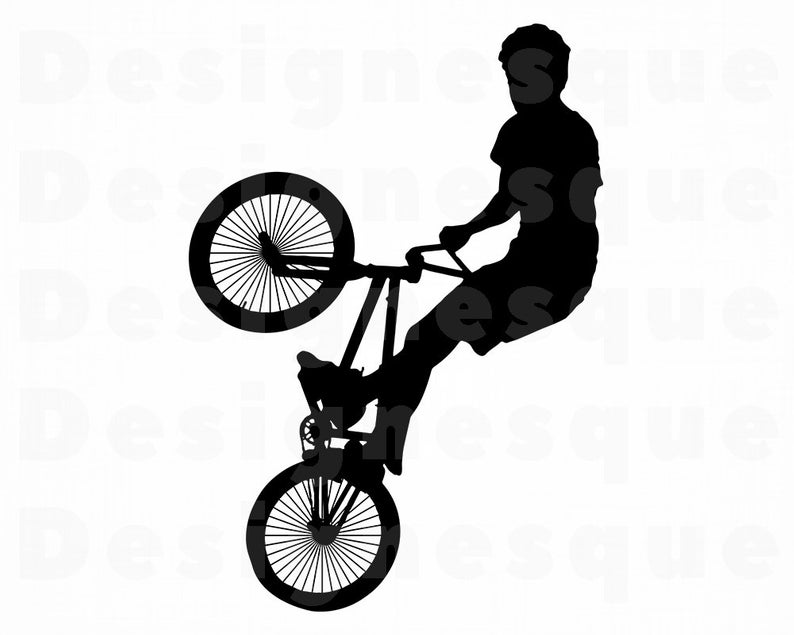 Stunt Bike SVG, BMX Svg, Bike Svg, Bicycle Clipart, Bicycle Files for  Cricut, Bicycle Cut Files For Silhouette, Dxf, Png, Eps, Bicycle SVG.