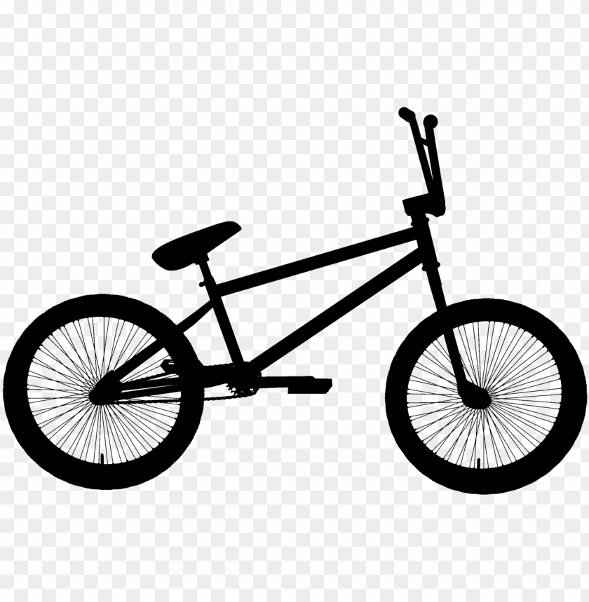 black bmx bicycle clipart png.