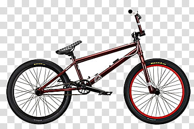 red BMX bike art transparent background PNG clipart.
