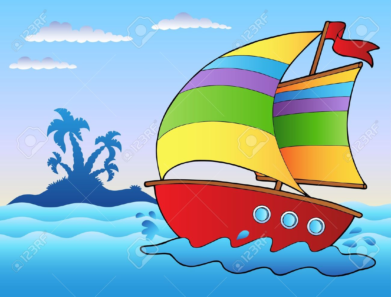 Showing post & media for Yacht ship cartoon.