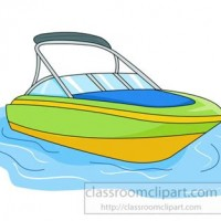 clipart boat on water.