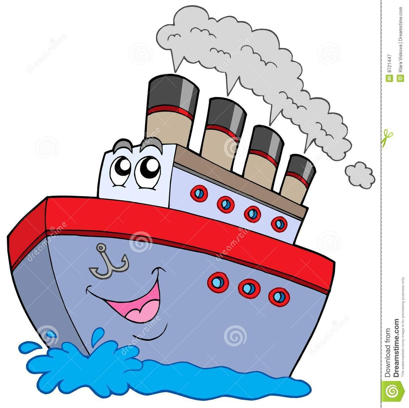 Cartoon boat stock vector. Illustration of recreation.