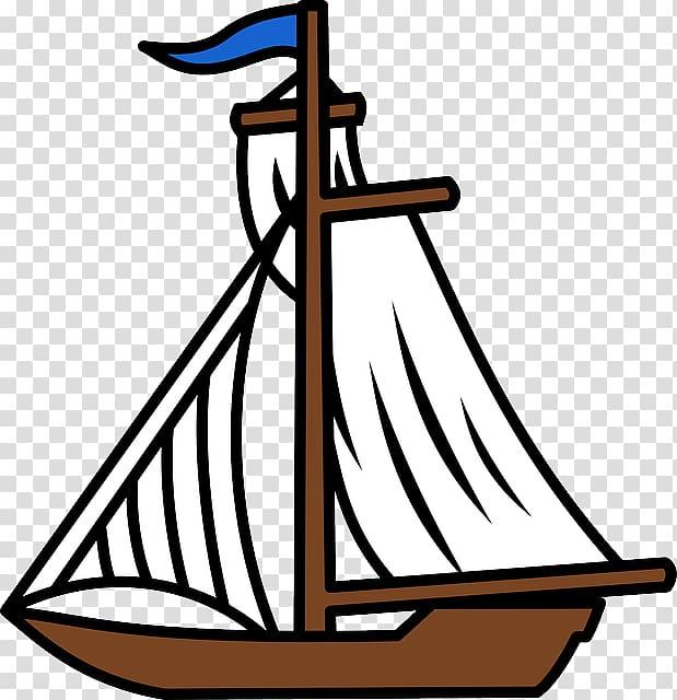 Sailboat Fishing vessel , Sailboat Cartoon transparent background.