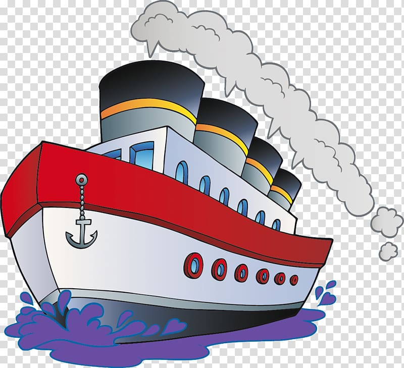 Cartoon Boat Ship, boat transparent background PNG clipart.