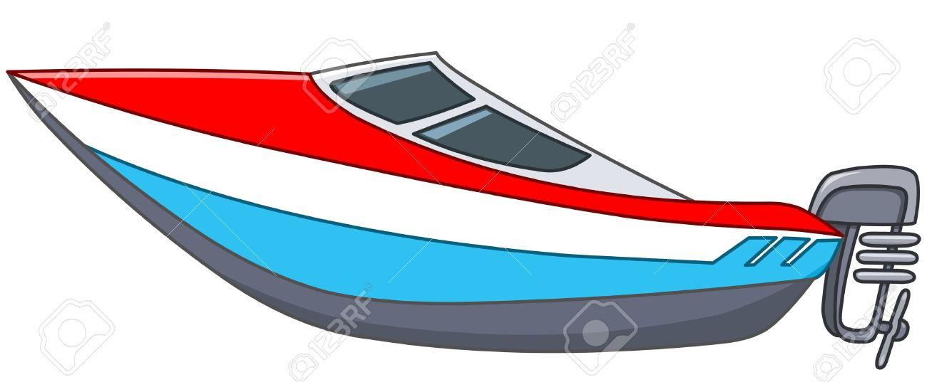 Cartoon motor boat.