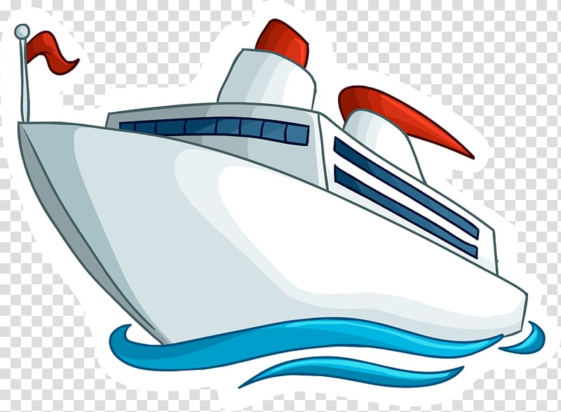 White and red cruise ship , Ferry Cruise ship , Ship transparent.